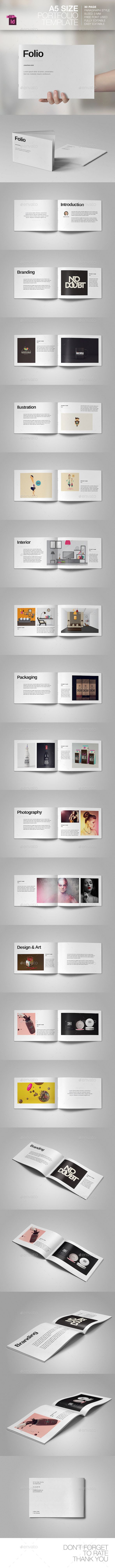 A5 Portfolio Template | Indesign templates, A5 and Template