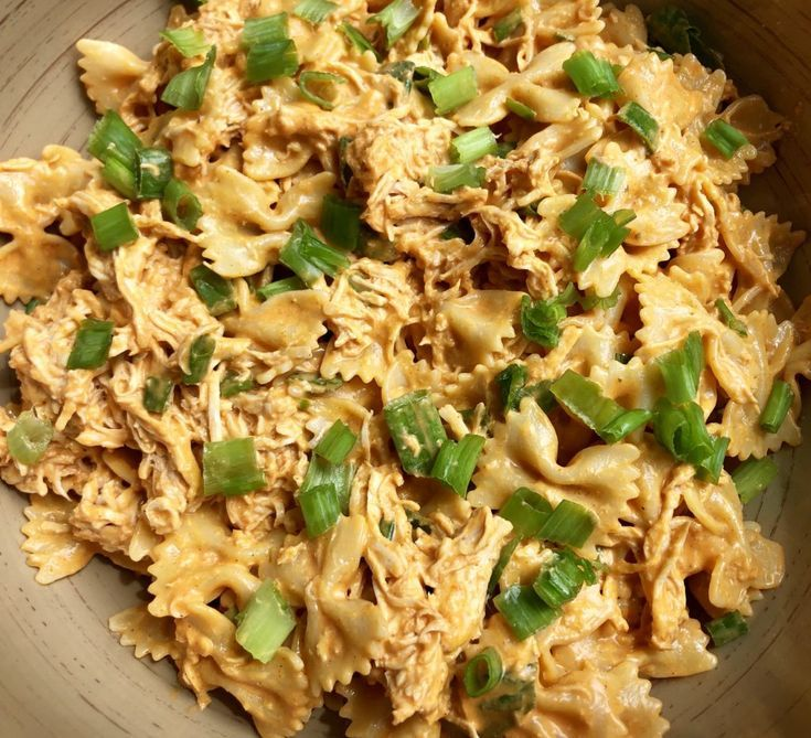 This Buffalo Chicken Pasta Salad is an easy recipe that put a unique spin on an old classic. This is perfect for barbecues and get togethers. #buffalochickenpastasalad