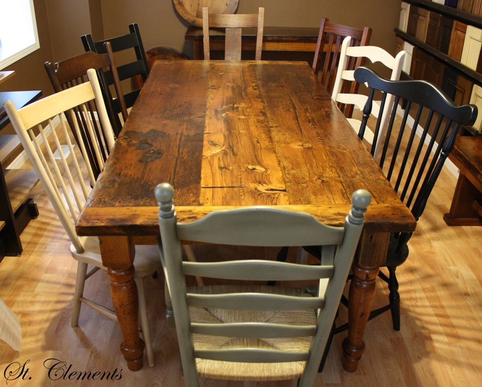Barn board table...using the wood we stripped off the old