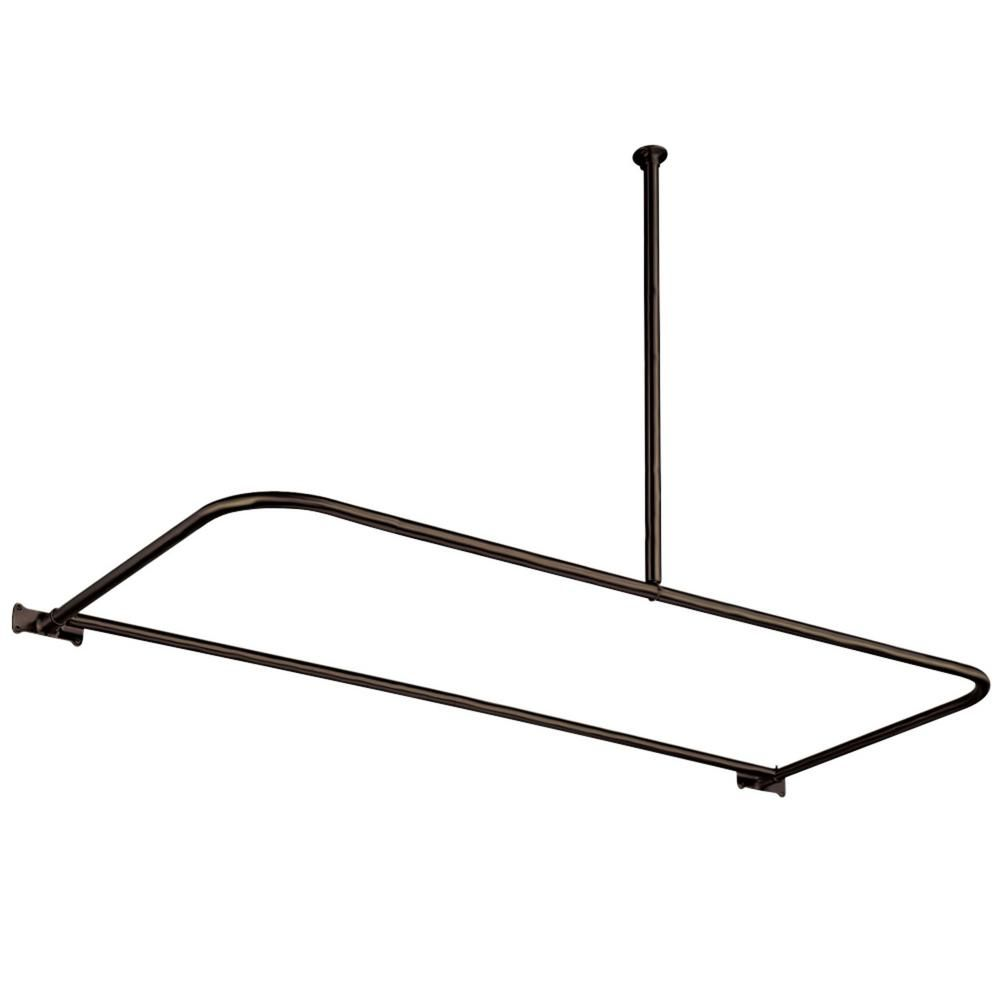 Kingston Brass 61 In X 28 In D Shower Rod In Oil Rubbed Bronze Products In 2019 Shower Curtain Rods Shower Accessories Shower Rod