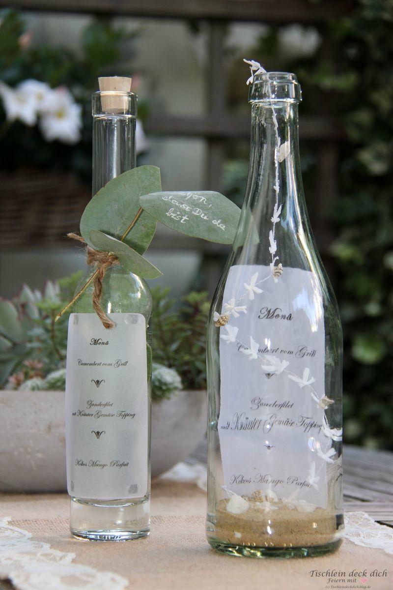 Das geht Fix No. 8 – Menükarte in der Flasche – Tischlein deck dich