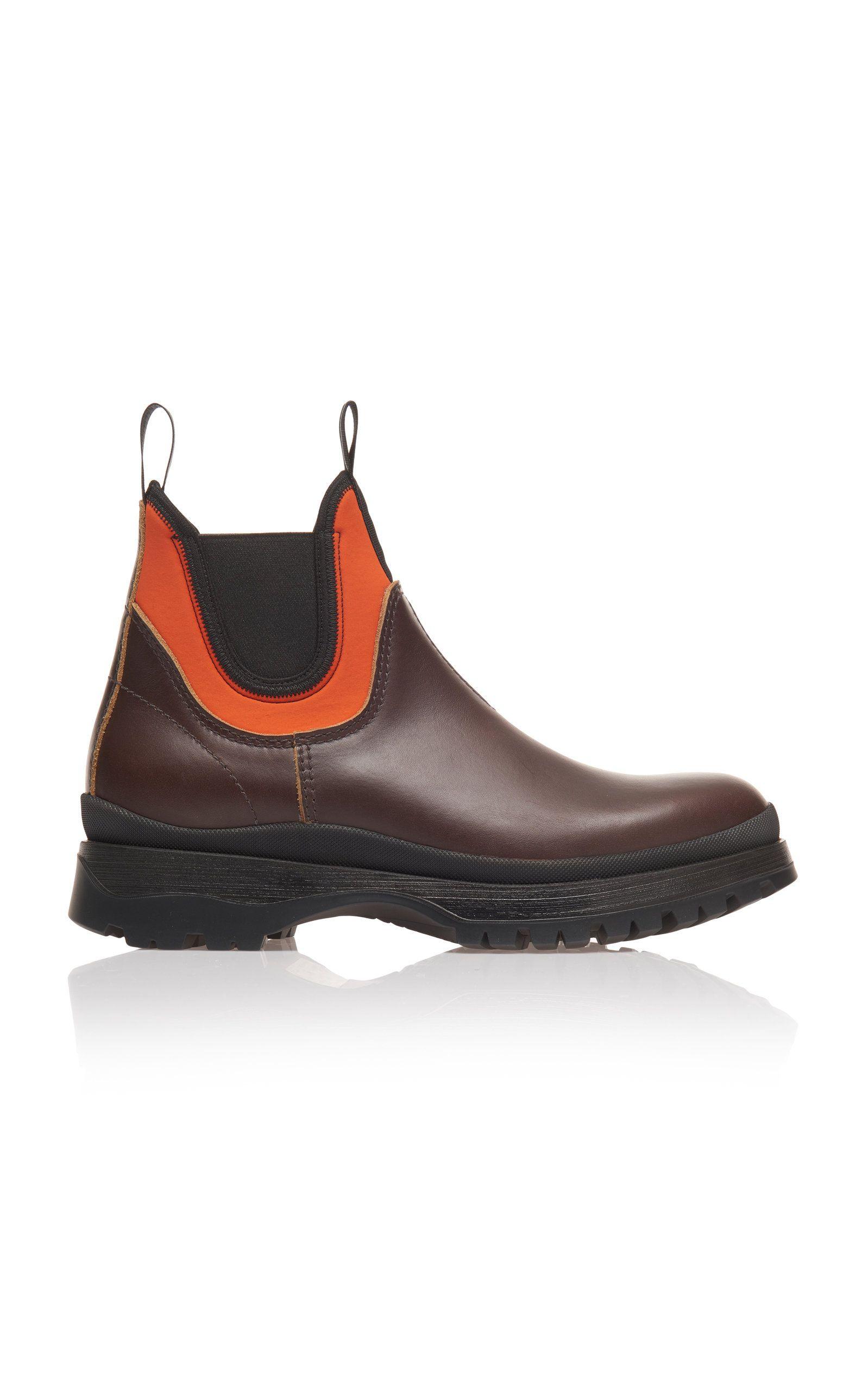 PRADA - boots - Leather And Neoprene
