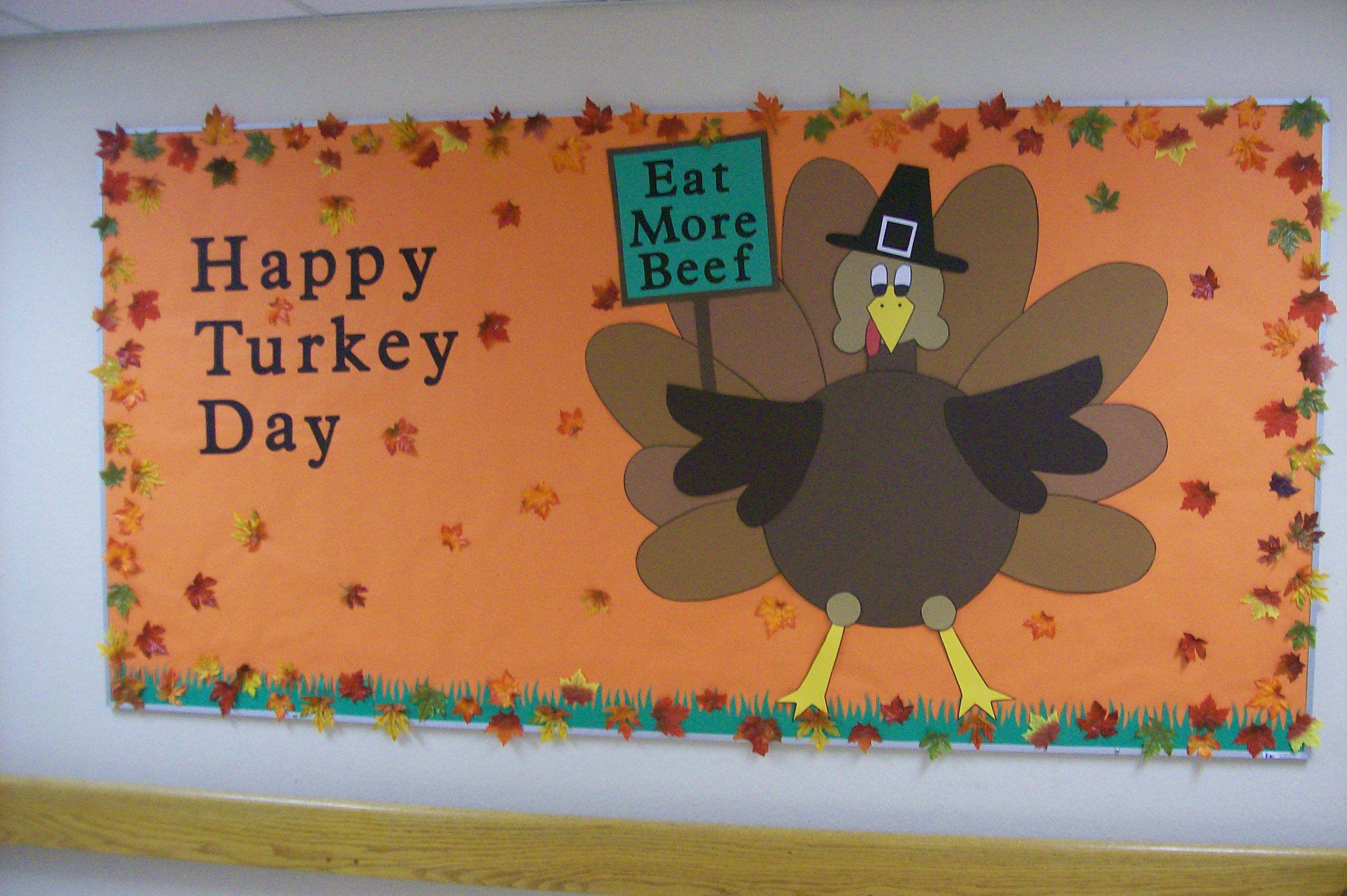 November Bulletin Board Thanksgiving Boards Birthday Classroom