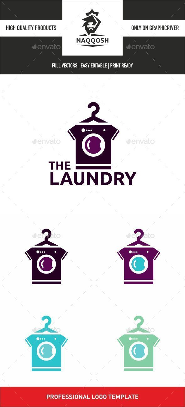 The Laundry Logo Template Vector EPS, AI. Download here…