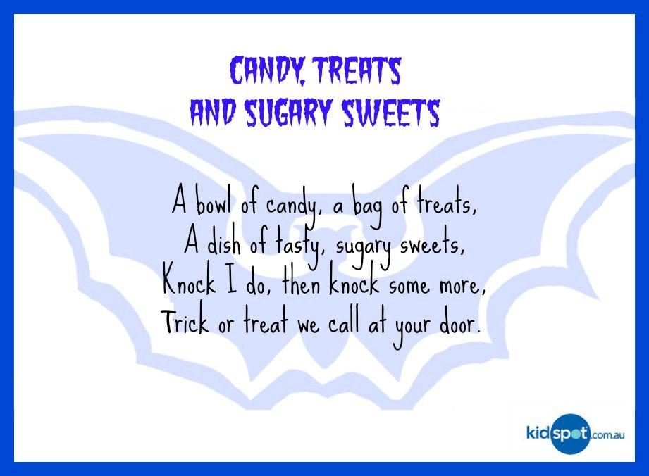 Short Halloween Poems For 2nd Graders