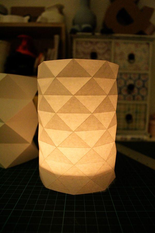 Diy Teelichter Origami Handwerk