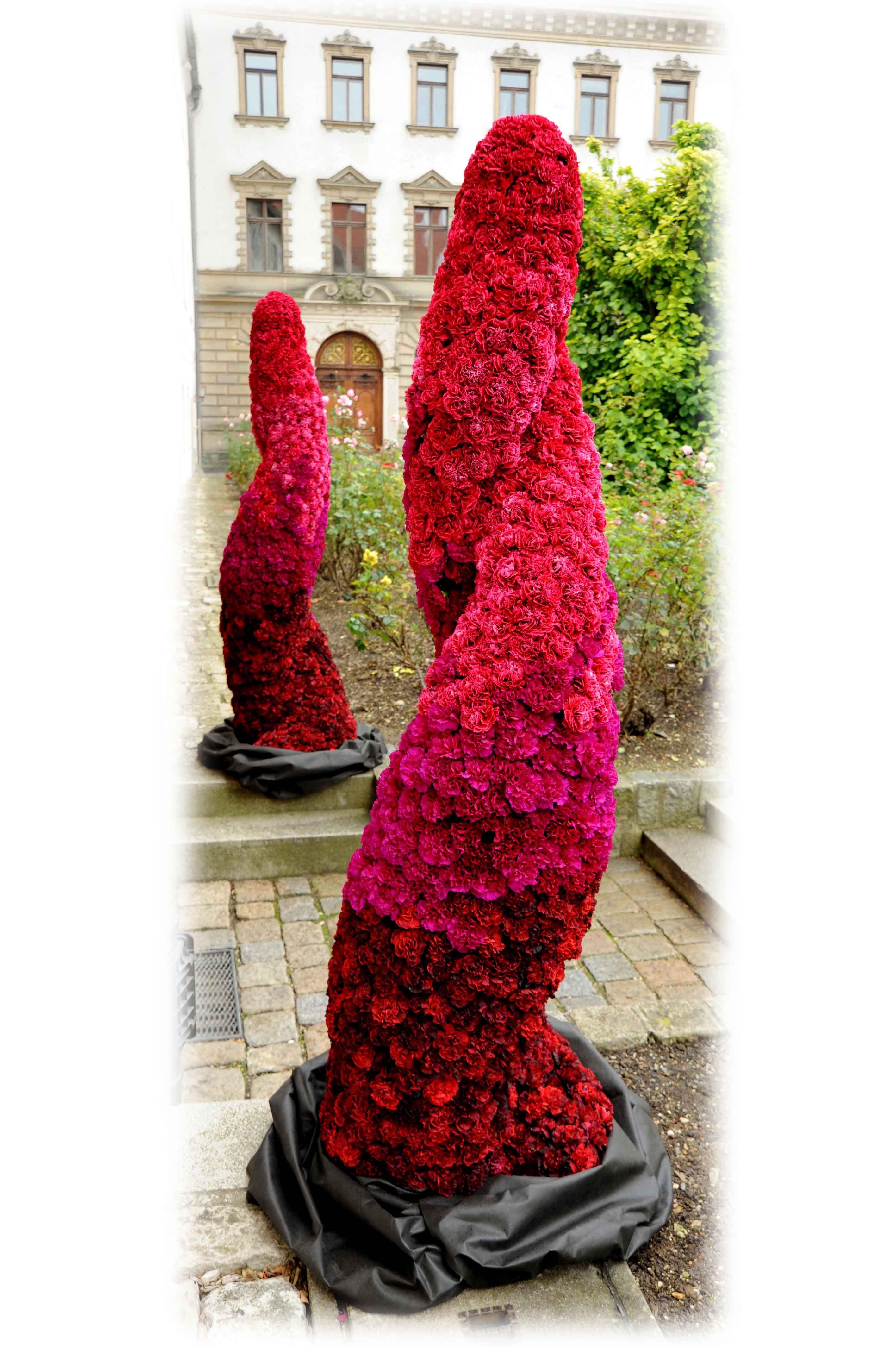 Ombre carnation sculptures Repinned by Beneva Flowers #SarasotaFlorist