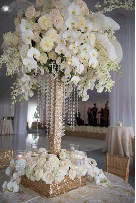 Orchids gold base white orchid wedding pinterest