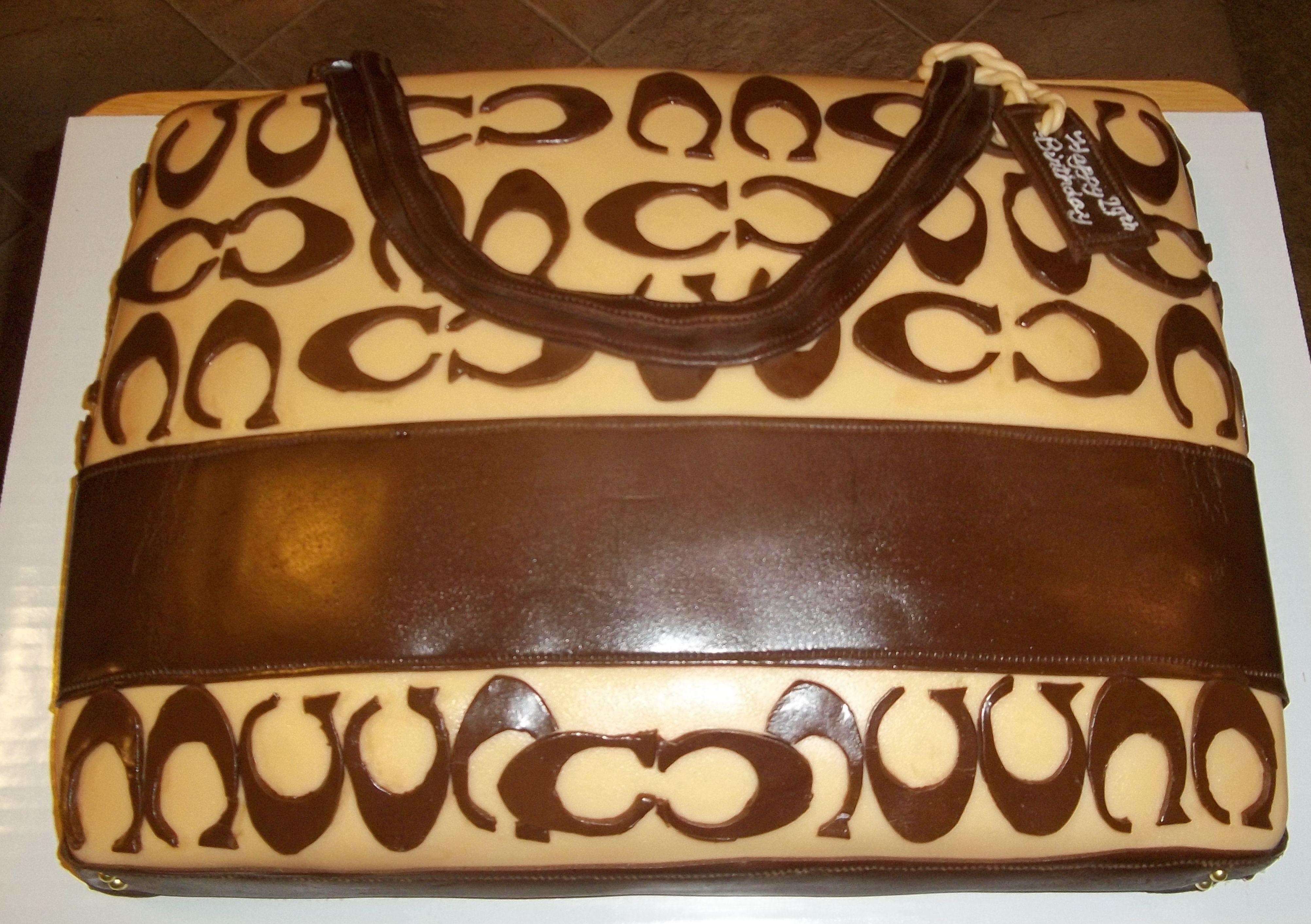 Coach Purse Birthday Cake Grandma Bettys Bakery Delights