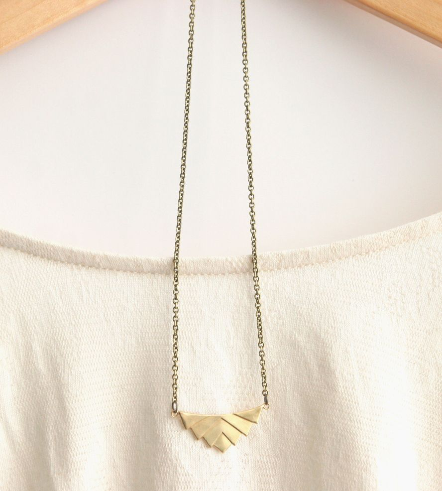 Brass geometric necklace jewel bling and bling bling