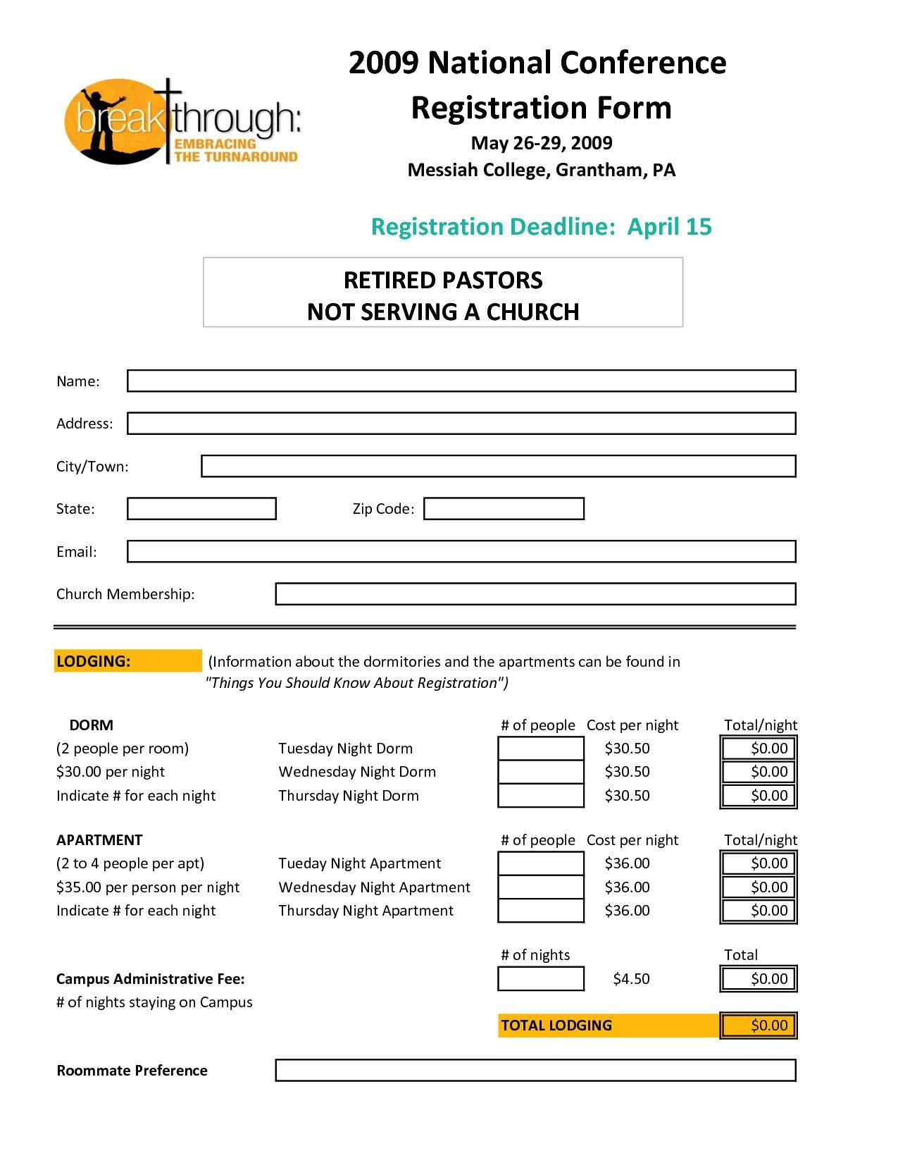 Registration Form Template Word Elegant Registration Form Template Of 37 Inspiring Registrati Registration Form Event Registration Business Template