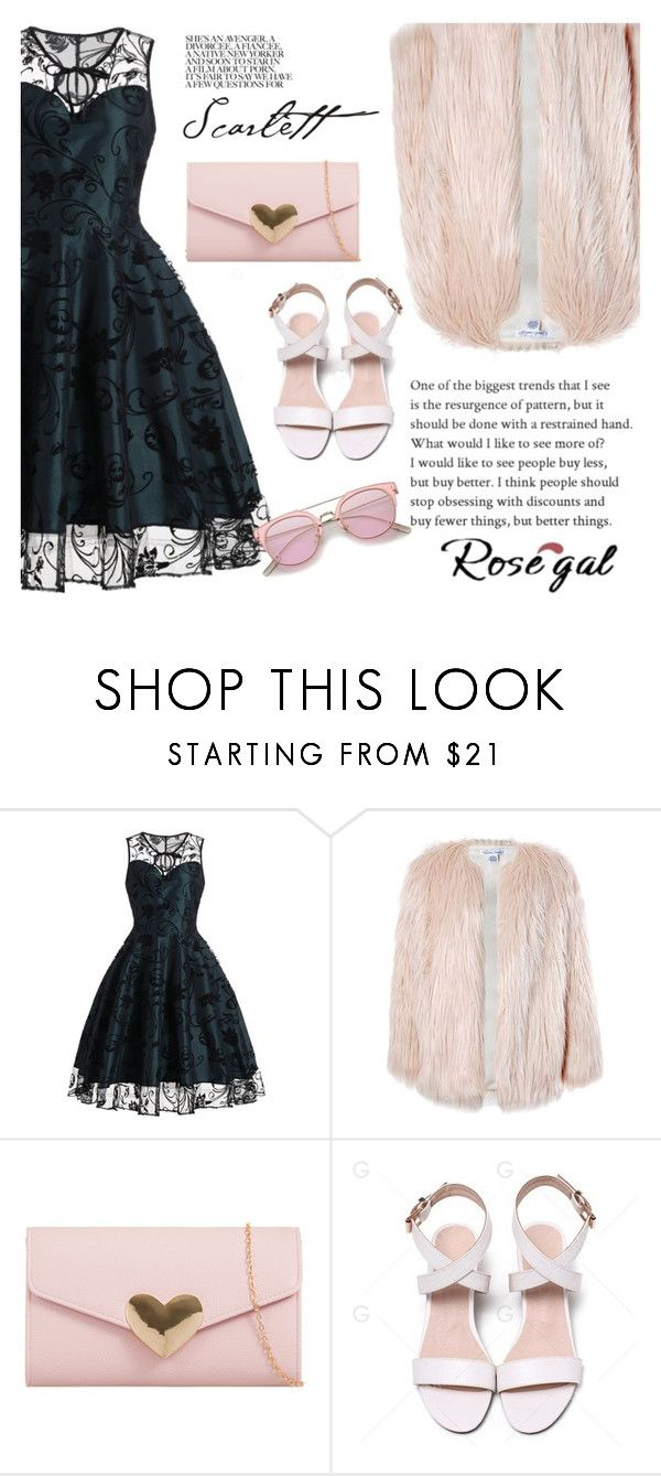 """""""ROSEGAL"""" by kvaka-cmxxi ❤ liked on Polyvore featuring Sans Souci"""