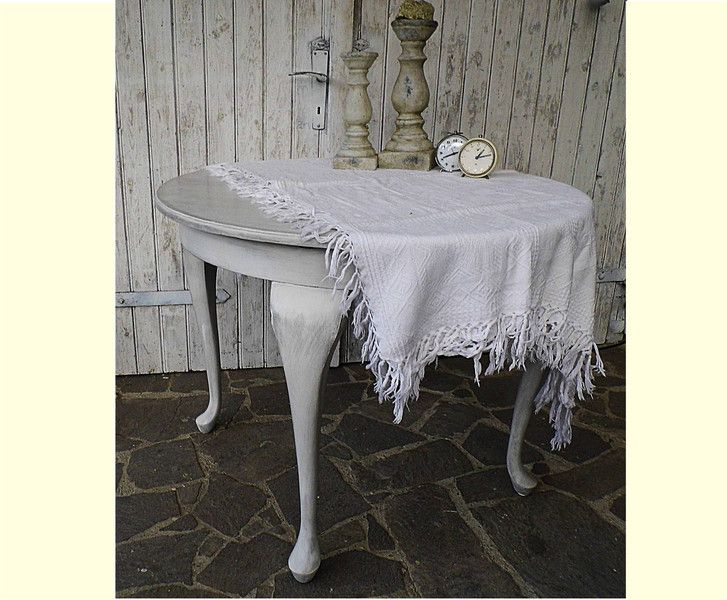 runder esstisch shabby chic ausziehbarer tisch | vintage - Küchentisch Shabby Chic