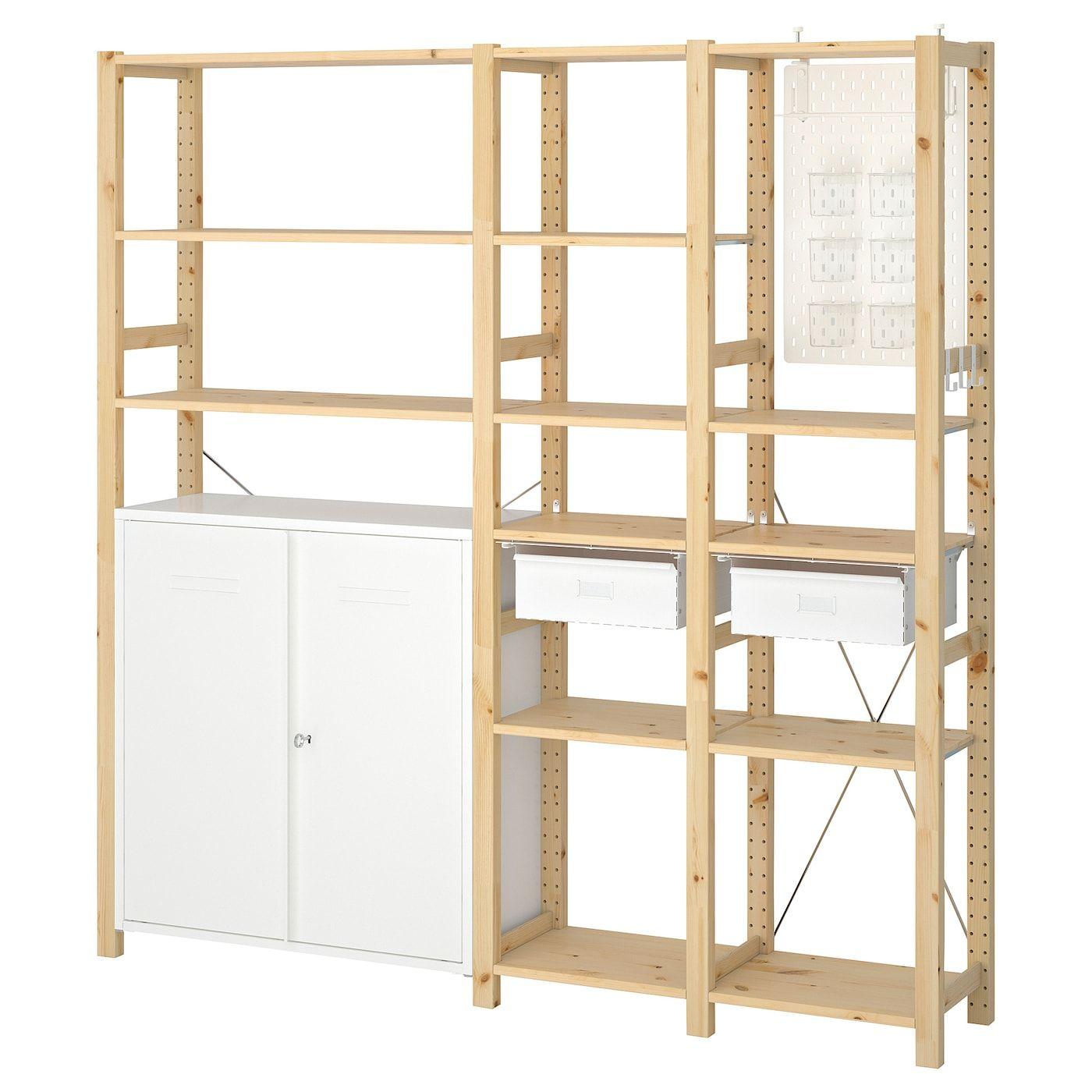 Ikea Ivar 3 Sections Cabinet Shelves In 2020 Shelves Small Shelving Unit Best Ikea