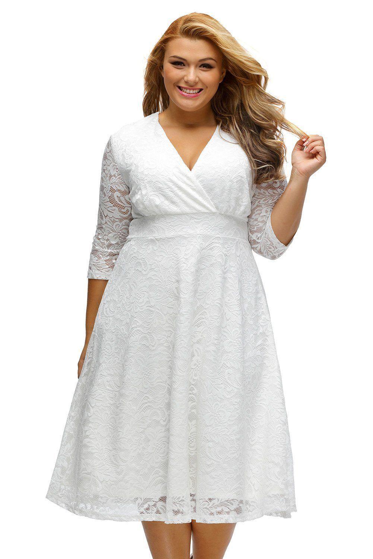 Plus size party dresses for weddings  Unbranded Fashion Womenus Elegant Lace Plus Size Formal Bridal