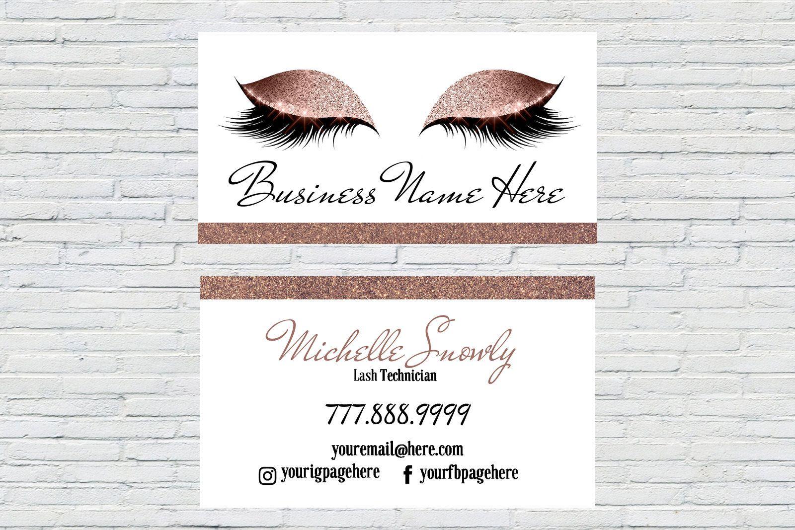 Rose Gold Makeup Artist Business Card Beauty Business Card Etsy In 2021 Makeup Artist Business Cards Business Cards Beauty Beauty Business Cards
