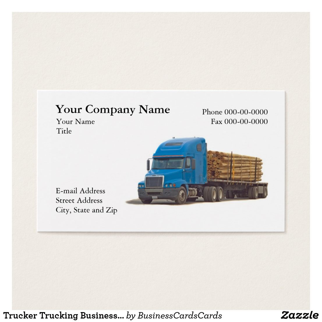 Trucker Trucking Business Card Custom Check out more business card ...