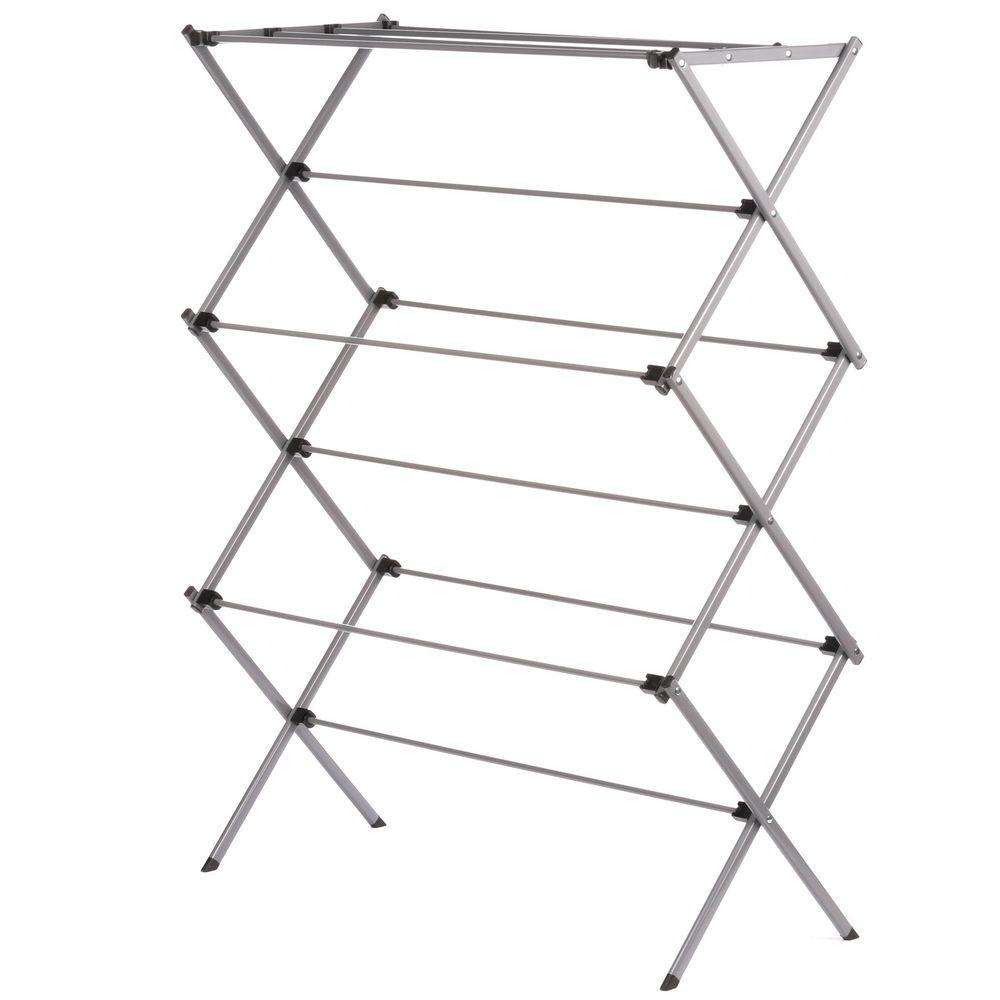 Honey Can Do Foldable Drying Rack Metal Dry 02119 The Home Depot Drying Clothes Wooden Clothes Drying Rack Drying Rack