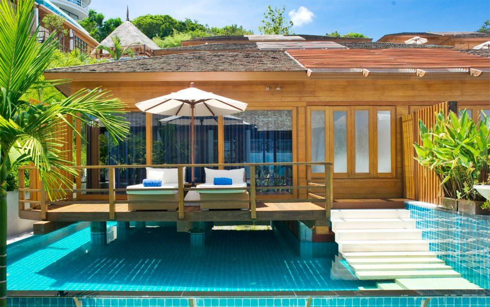 The boutique KC Over Water's rooms, suites and Over Water Villas are tucked into a secluded luxury estate overlooking azure seascapes and the smaller islands of Koh Samui dotted across the horizon.