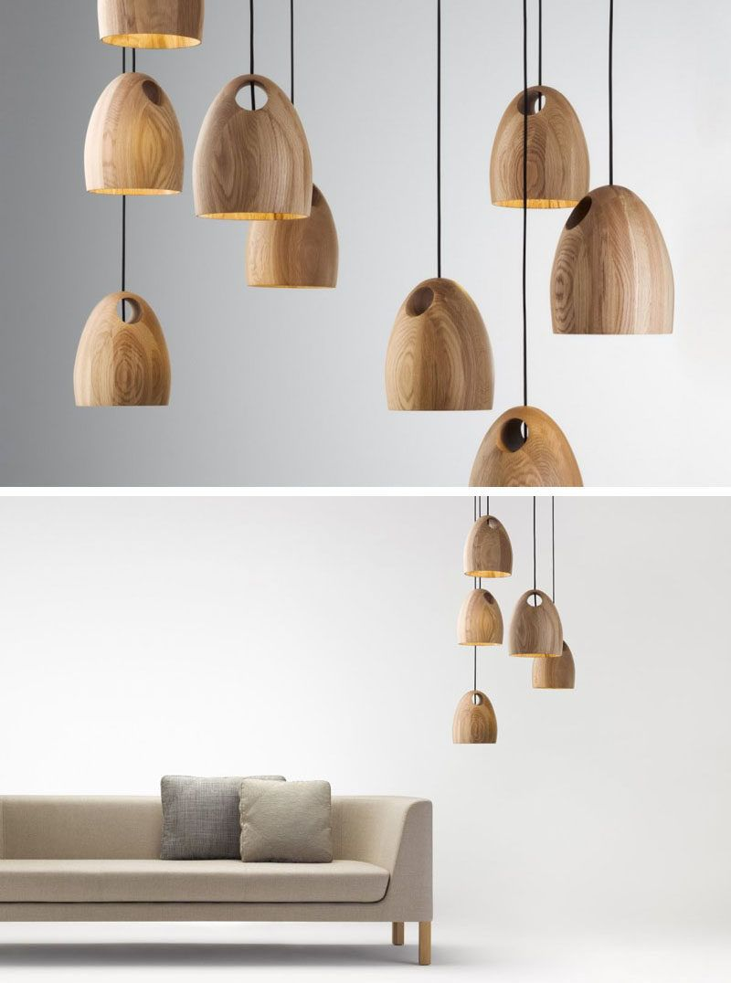 15 Wood Pendant Lights That Add A Natural Touch To Your Decor These Oak Come In Number Of Finishes Have Hole The Top Them