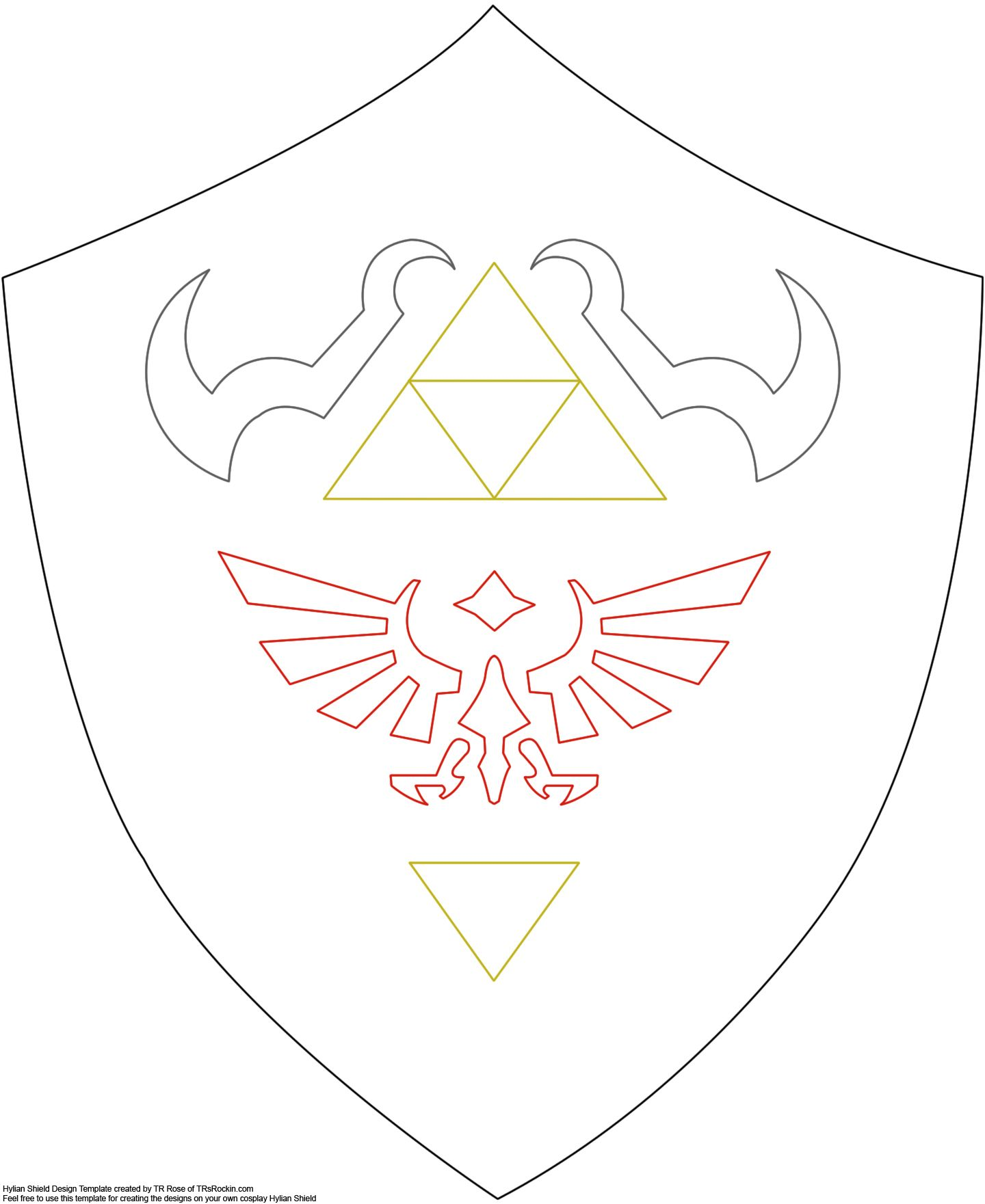 Shield pattern for future linkzelda costume httpfirefly shield pattern for future linkzelda costume httpfirefly biocorpaavc Images