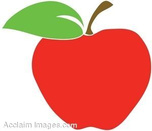 big apple clip art clipart illustration of a red apple with leaf rh pinterest com red delicious apple clip art red apple clip art free