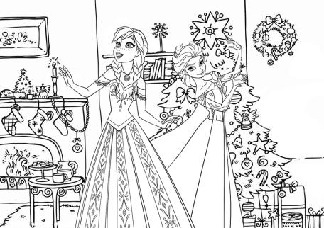 Frozen Christmas Coloring Pages Coloring Pages Christmas Tree Coloring Page Christmas Coloring Pages