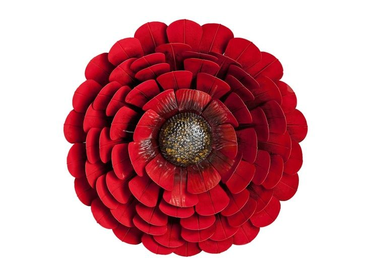 Floral Metal Wall Art | Red Flower Metal Wall Decor | Decor | Pinterest