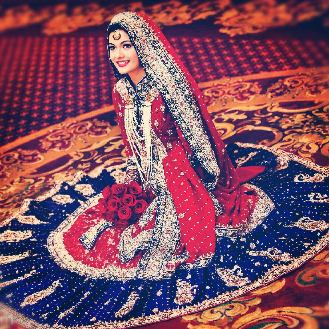 Non Traditional Wedding Dresses With Color: A Hyderabadi Muslim Bride Wearing A Non Traditional