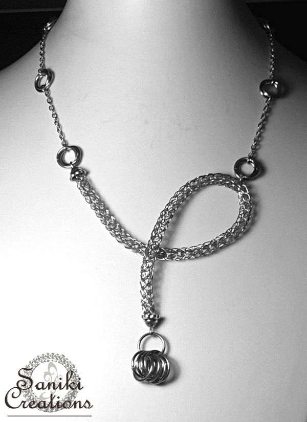 OOAK Viking Knit and Mobius Chainmaille Necklace | Chainmaille ...