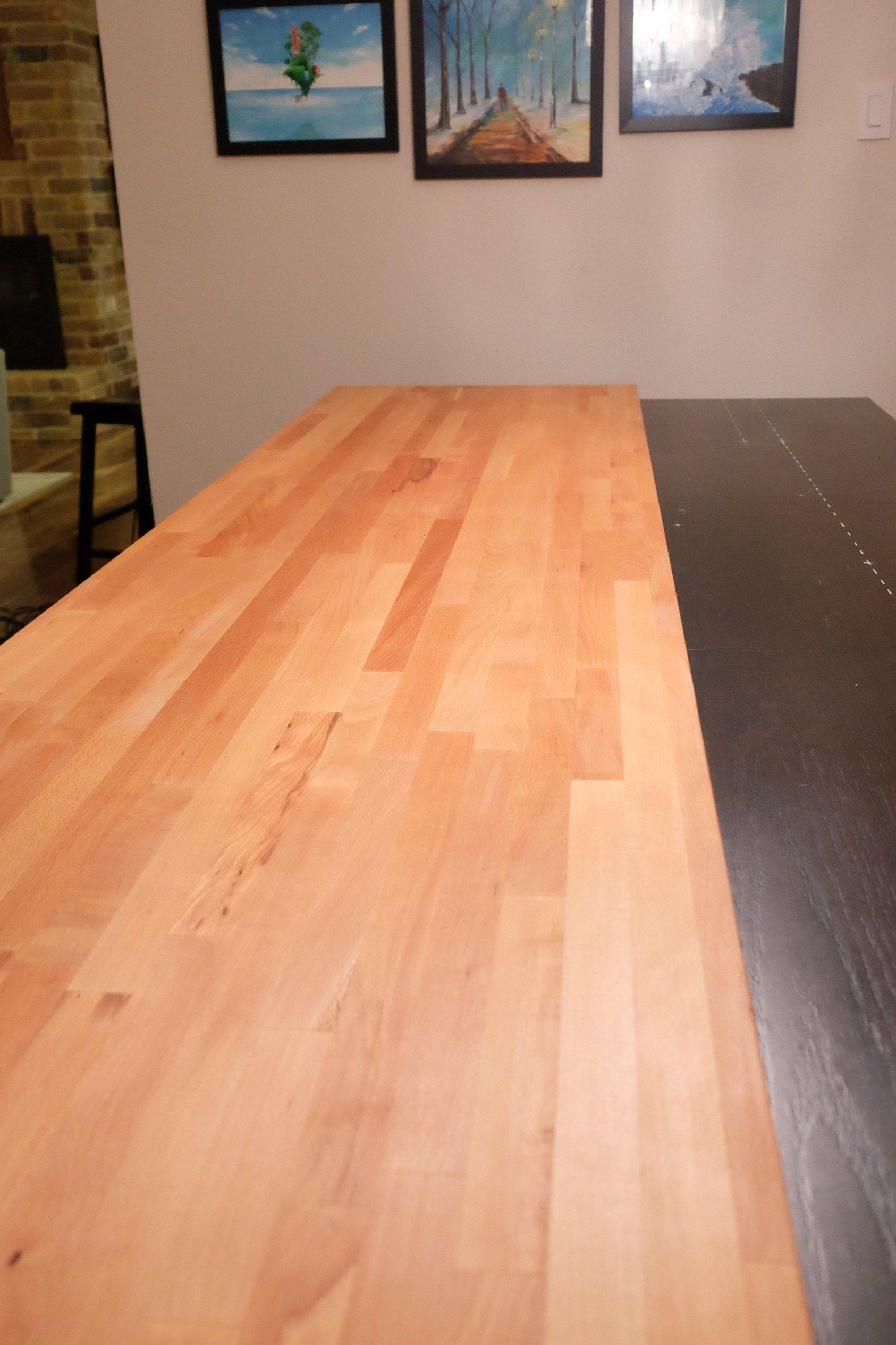 Diy butcher block dining table diy dining room table