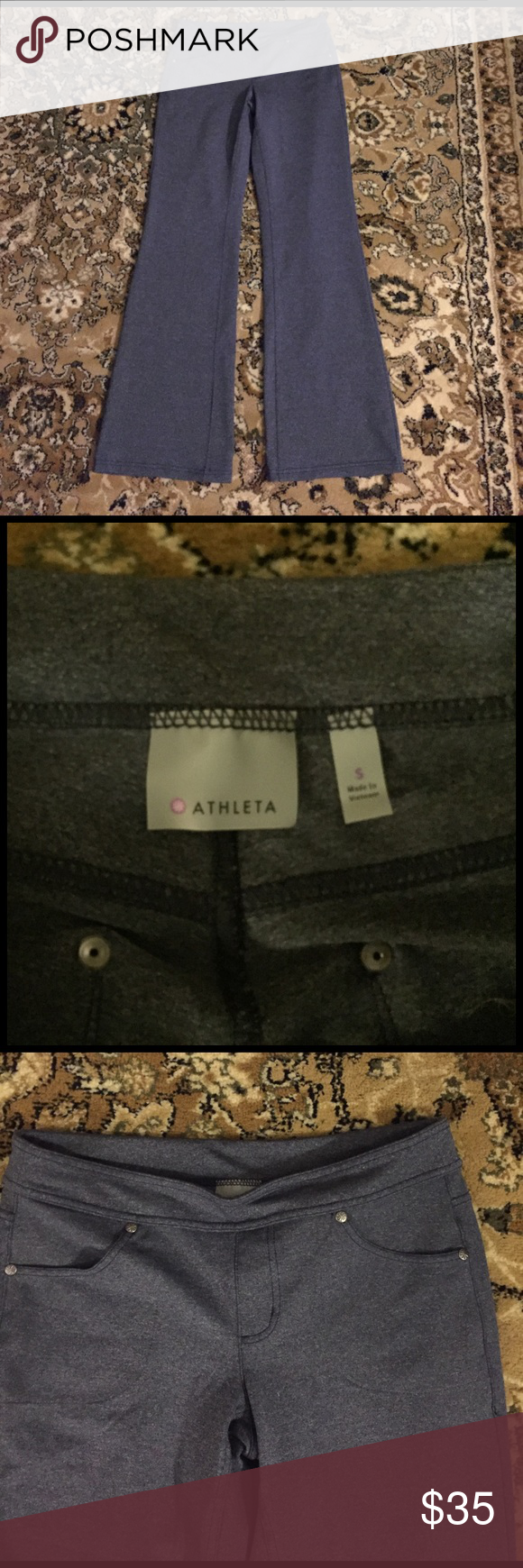 NWOT Athleta gray Bettona regular pant Awesome pair of pants....changed my mind so now they're listed....perfect for weekends or even the office ....make an offer! Athleta Pants Boot Cut & Flare