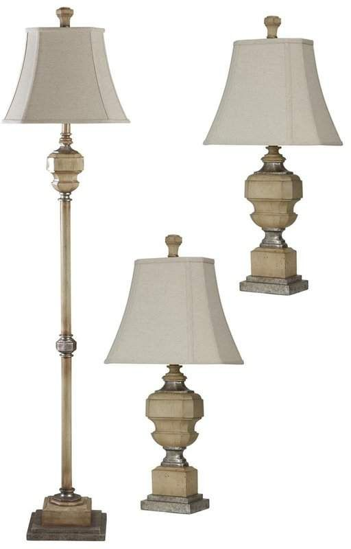 Ophelia Co Arra 3 Piece Table And Floor Lamp Set In 2020