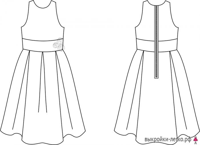 Готовая выкройка платья для девочки