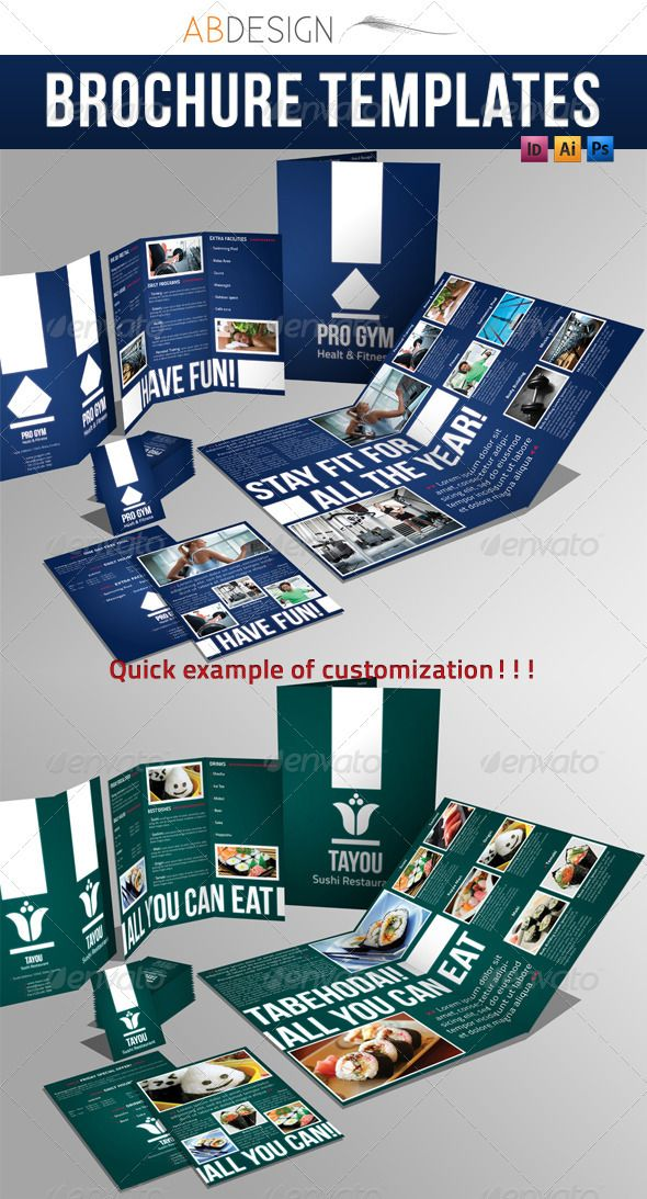 4 pages brochure trifold business card corporate brochure