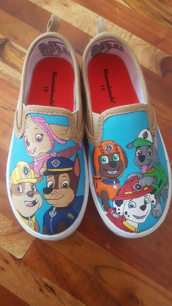 0dd2304e381cd2 Paw Patrol Inspired Kid s Shoes Custom Hand Painted Vans