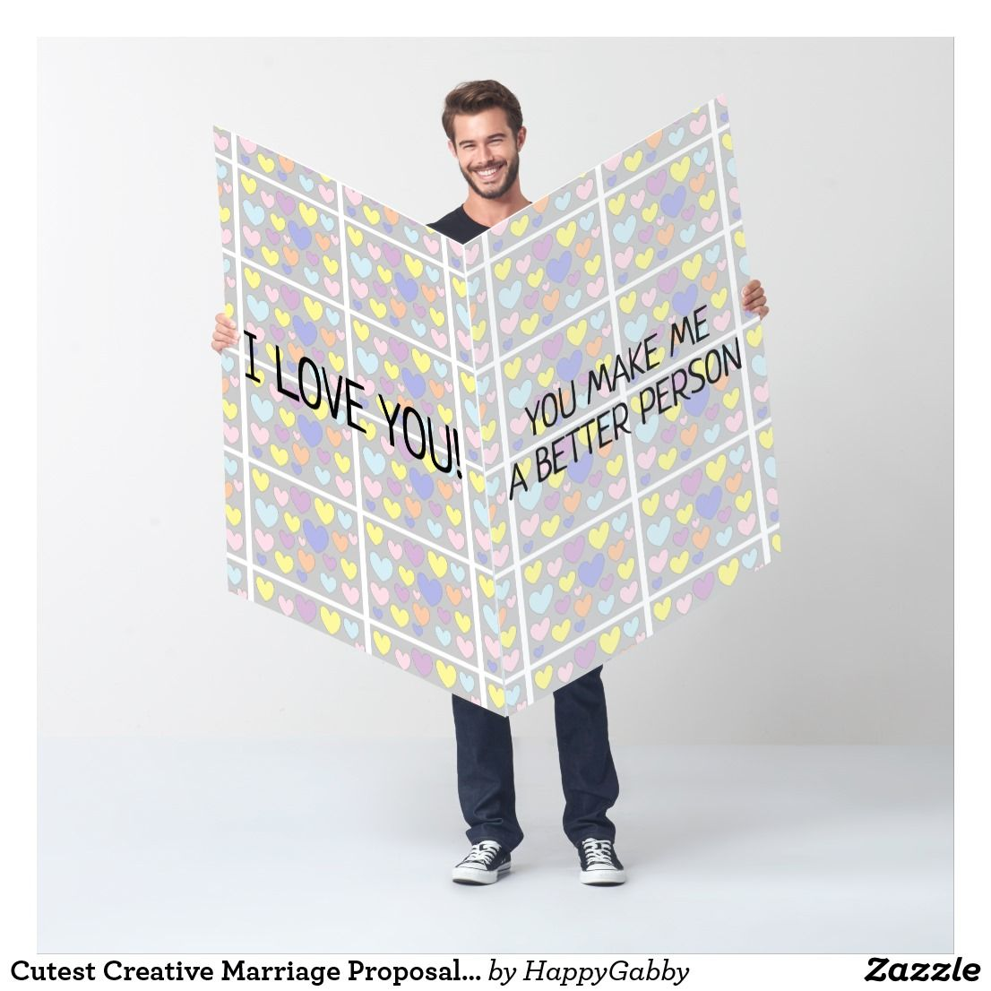 Cutest Creative Marriage Proposal Gigantic Card (With