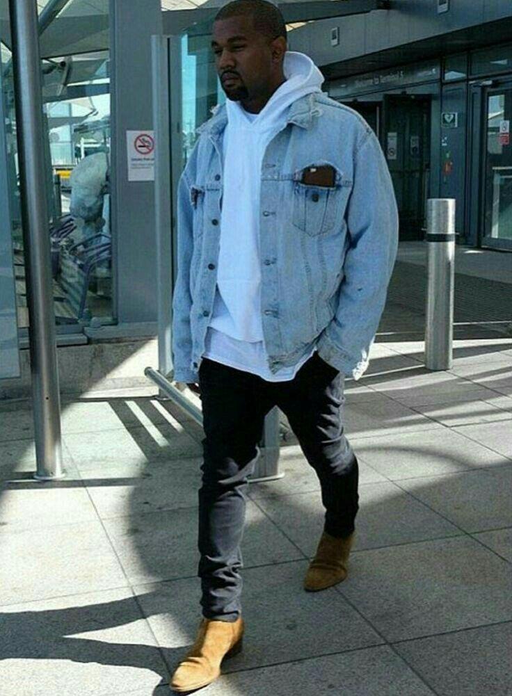 Pin By Style For Men On Looks Kayne West Denim Jacket Fashion Kanye West Outfits Kanye West Style