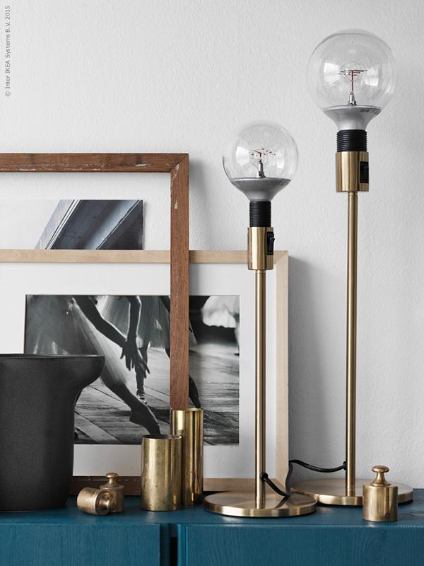 Ikea News A Kind Of Brass Lamp Ikea Inspiration Interior