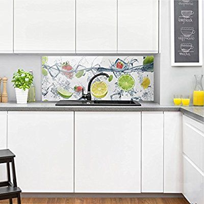 Compra bilderwelten panel antisalpicaduras de cristal fruit cocktail panor mico panel - Panel antisalpicaduras cocina ...