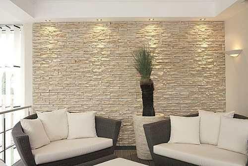 Trabajos en piedra granito y m rmol muros decorados - Revestimiento paredes interiores ...
