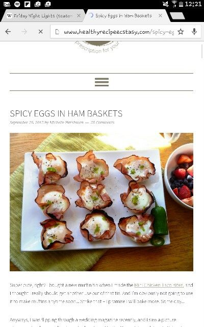 Spicy egg in ham baskets paleo friendly