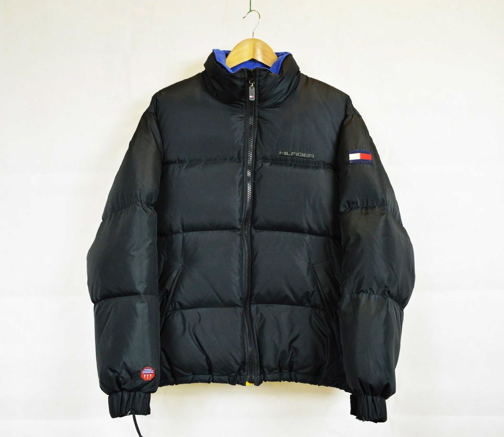Large Black Vintage Tommy Hilfiger Puffer Down Jacket Vintage Tommy Hilfiger Down Jacket Tommy Hilfiger [ 868 x 1000 Pixel ]