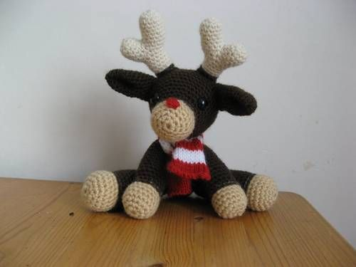 Rudolf the red nosed reindeer - CROCHET pattern   Maize Likes to ...