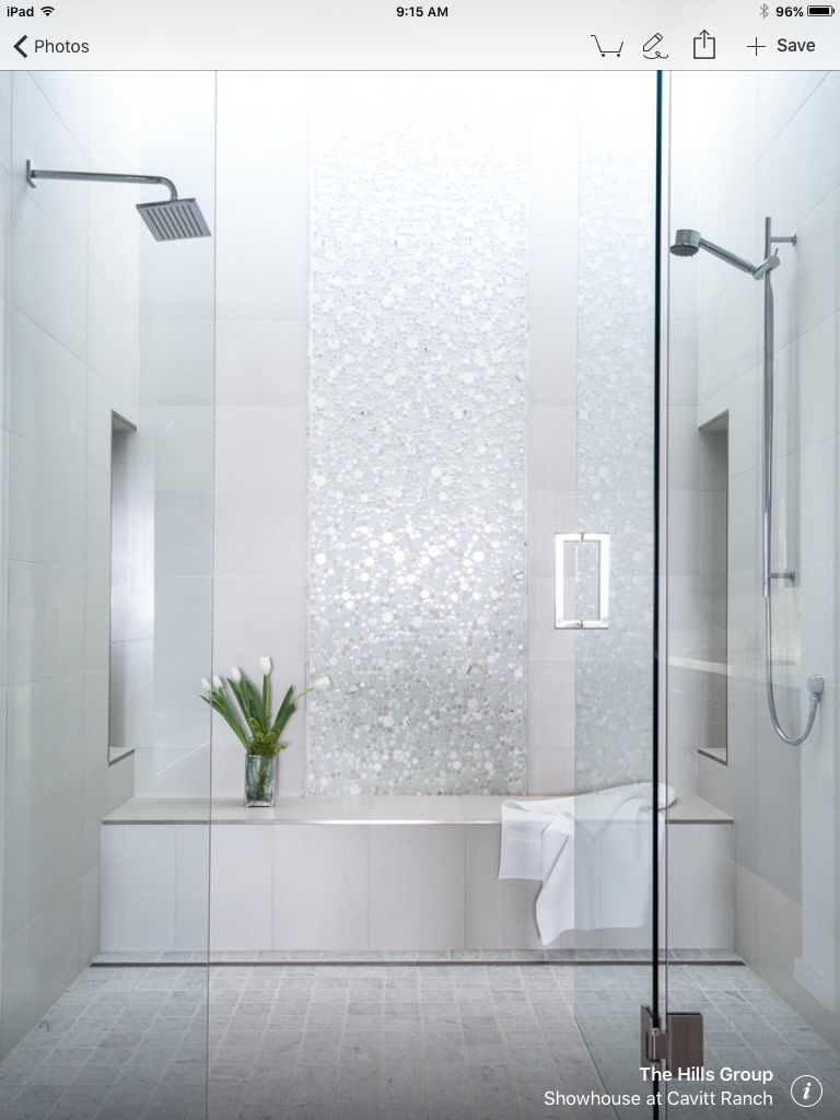 Simple Elegance Of Light Tile With Shimmer And Texture Bathroom Remodel Shower Shower Remodel Bathroom Interior