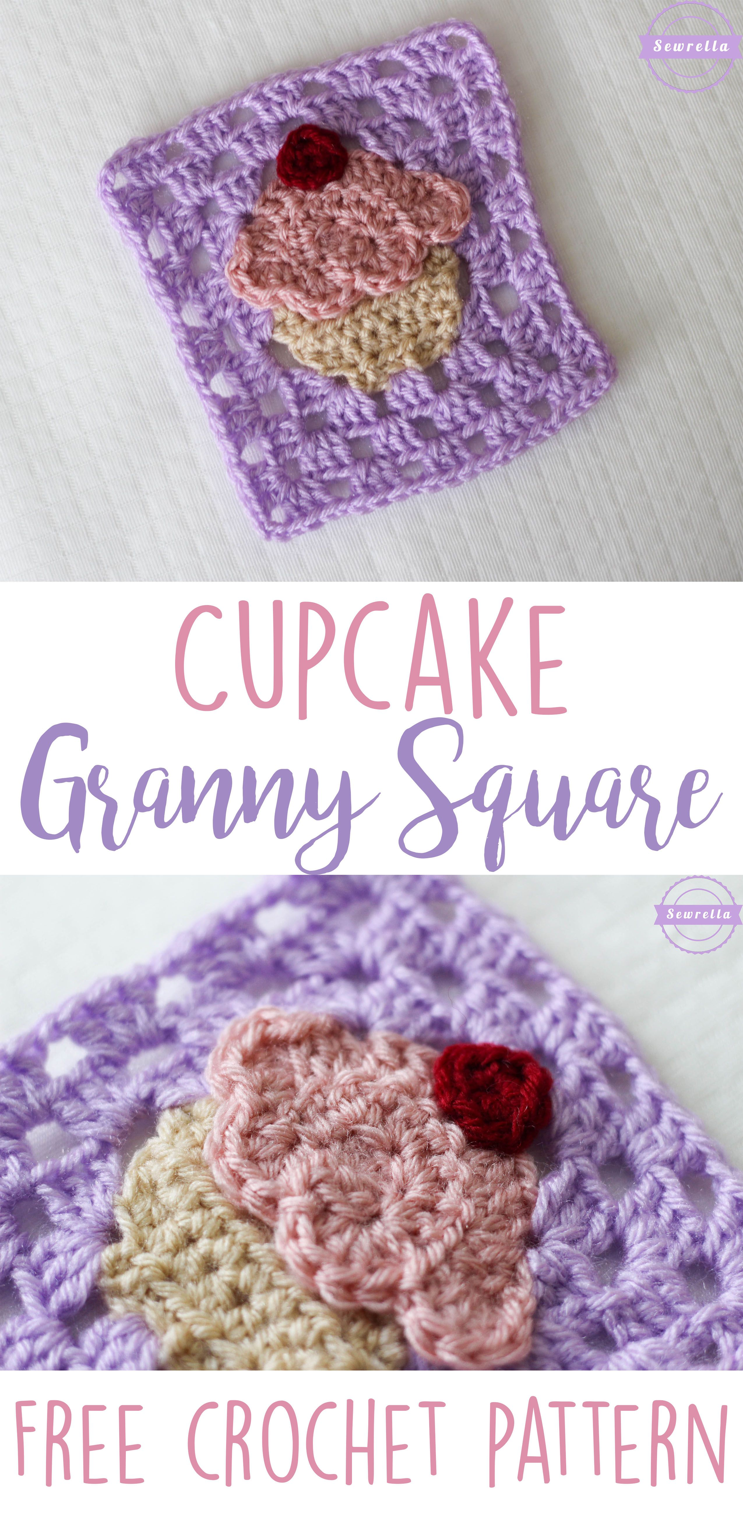 Crochet Cupcake Granny Square: Bake Shop Blanket Series | Tejido ...