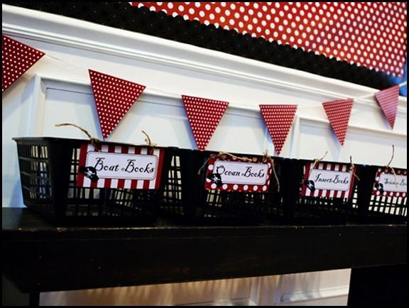 Red White Black Clroom Ideas Uses A Pirate Theme Lists