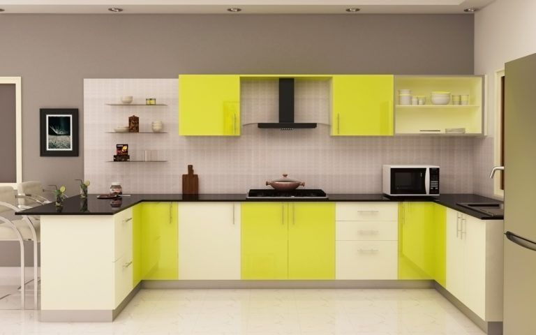 20 Kitchens With Unique Color Combinations Kitchen Cabinets Color Combination Kitchen Design Kitchen Trolley Design