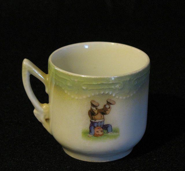 """Children's teacup . """"Handstand""""  Bavaria, J.S.V"""