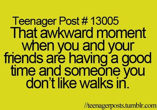 Awkwardness is all around us